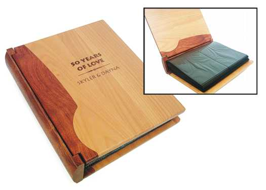 premium rosewood photo album